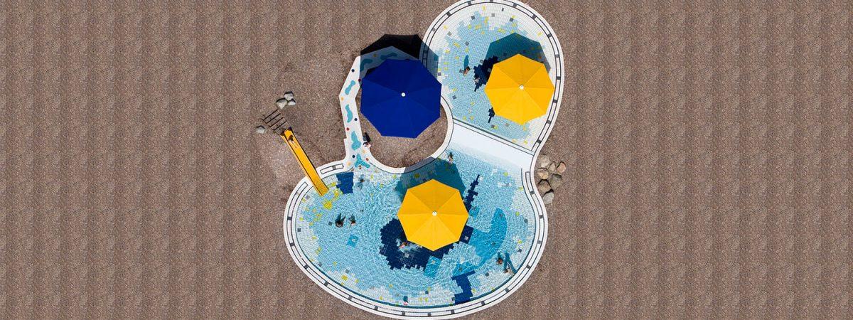 Imágenes aéreas de piscinas públicas | Stephan Zweires